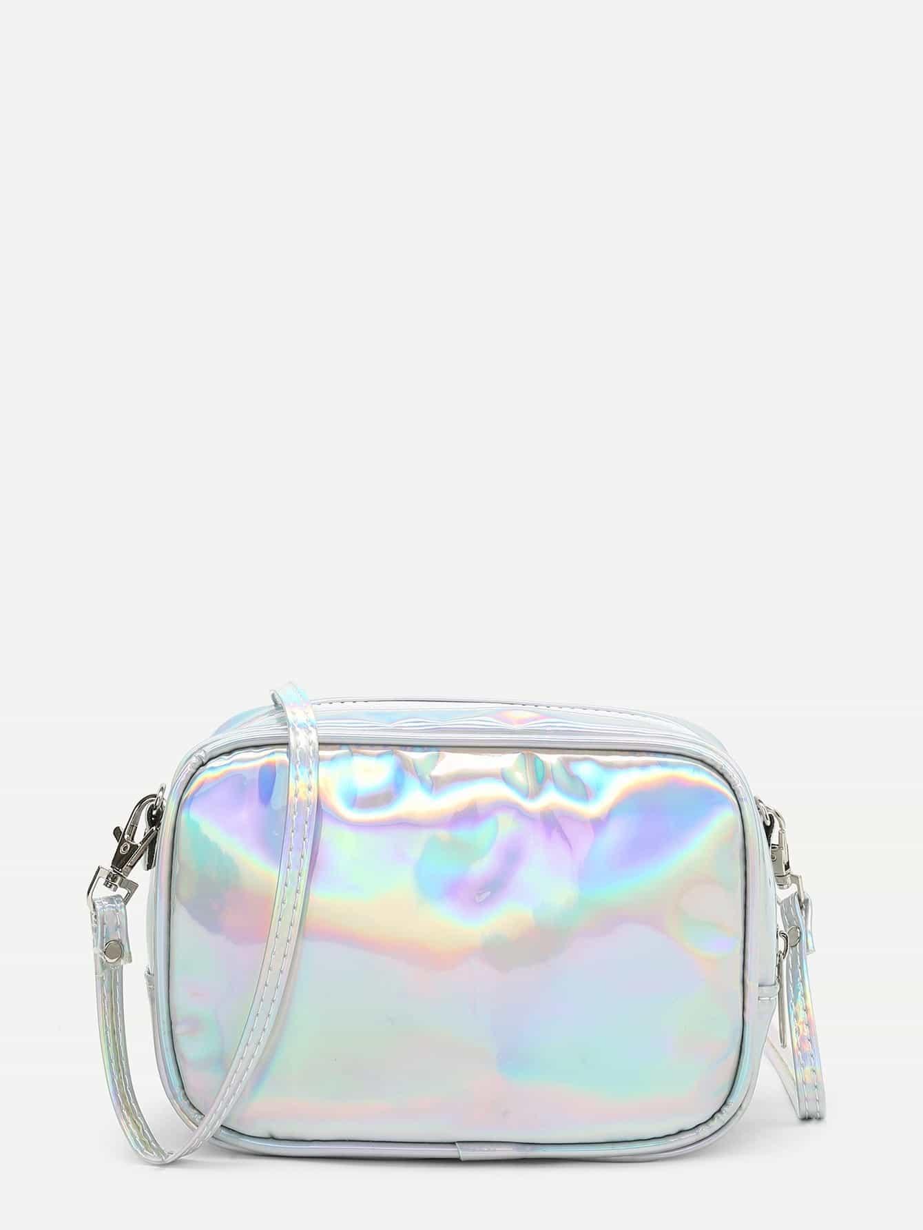 Iridescent PU Crossbody Bag iridescent tote bag