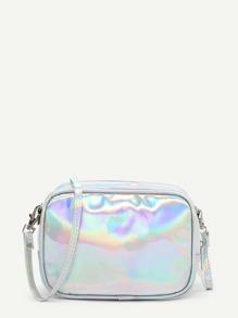 Iridescent PU Crossbody Bag