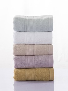 Random Color Basic Embossed Bath Towel 1 PC