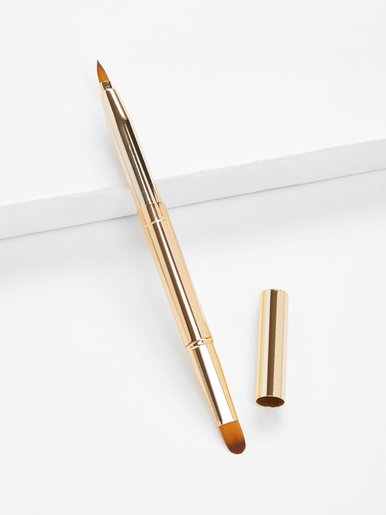 Two Head Metal Handle Lip Brush