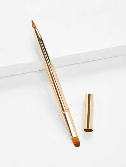 Two Head Metal Handle Lip Brush
