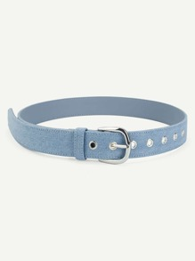 Buckle Design Denim Belt