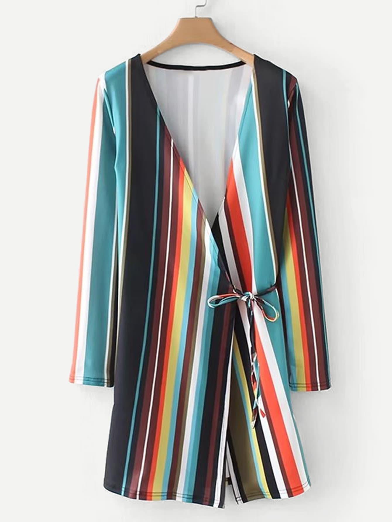 Multi Stripe Wrap Dress урок дочкам 2018 01 28t18 00