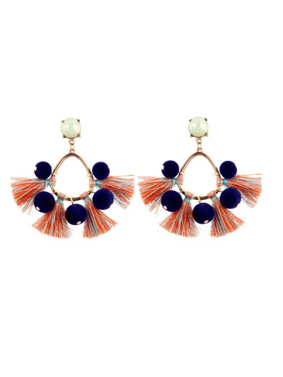 Tassel Decorated Drop Earrings