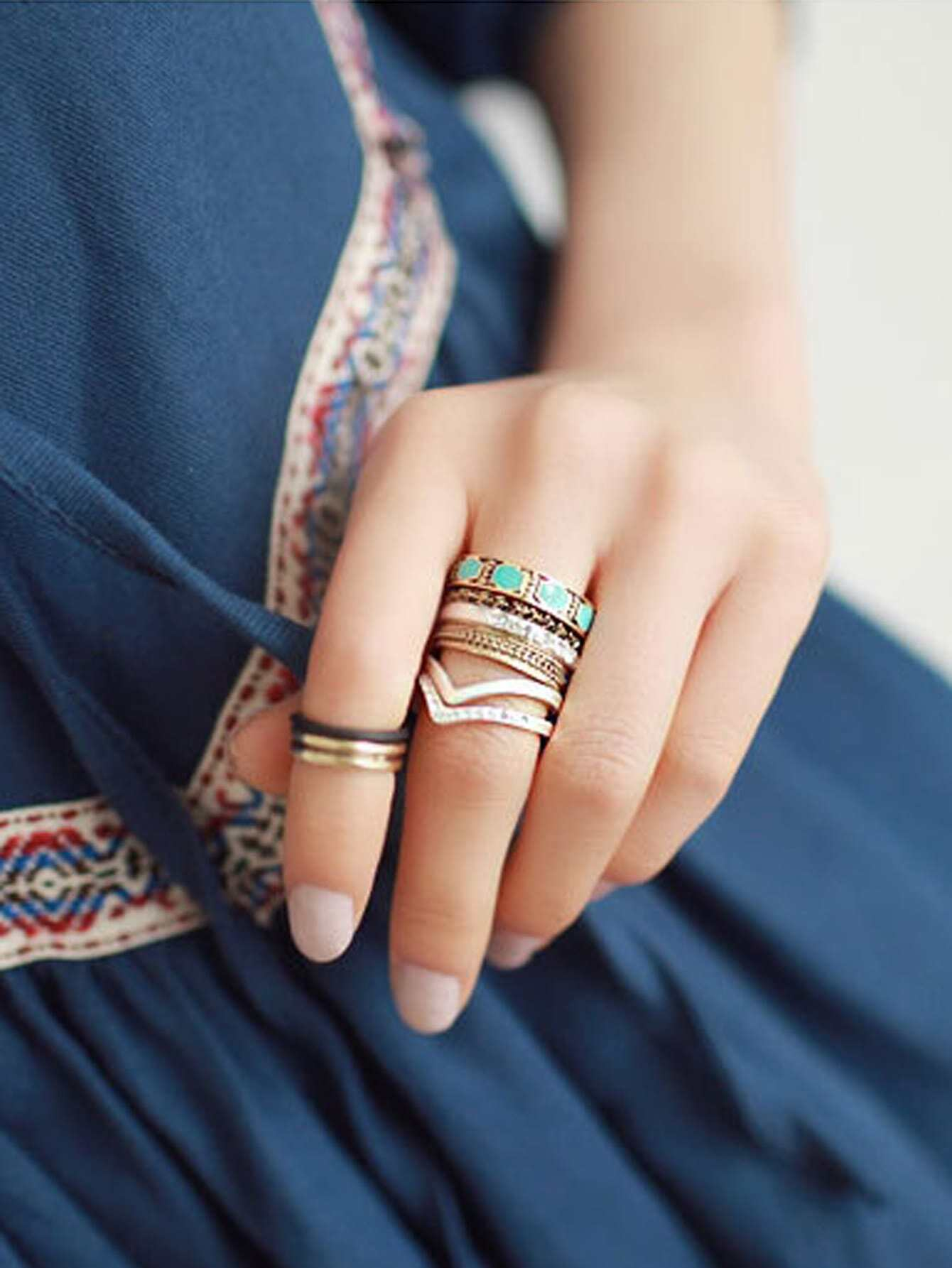 Vintage style fashion rings 74