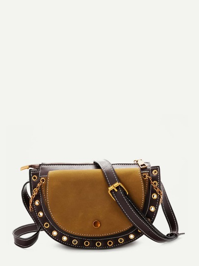 Eyelet Detail Saddle Bag