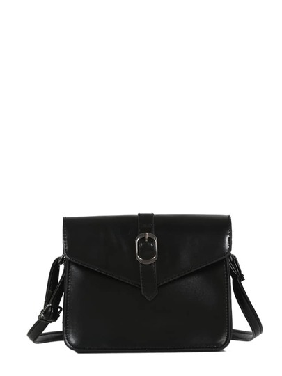 Buckle Decor Crossbody Bag