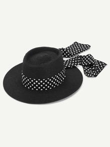 Polka Pot Band Straw Hat