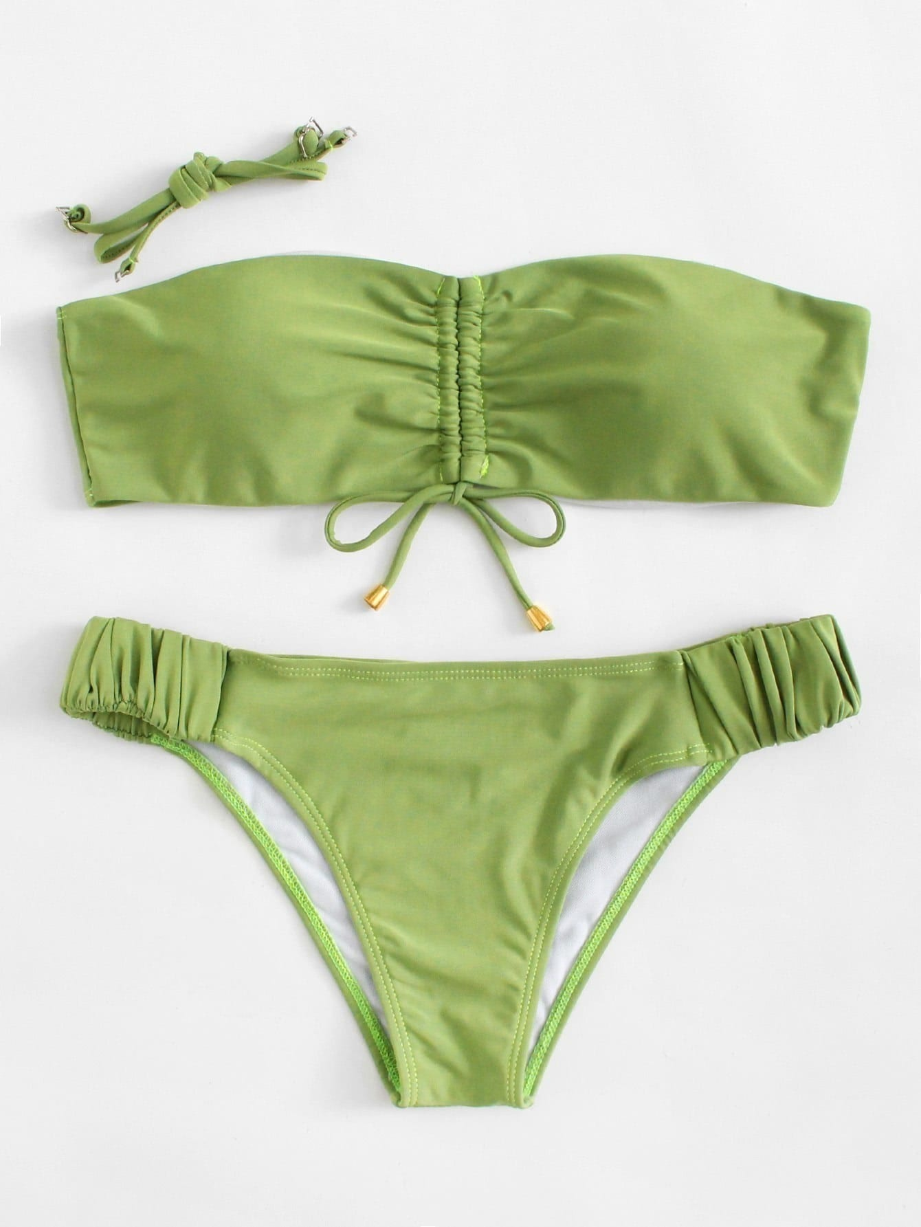 Detachable Straps Elastic Bikini Set