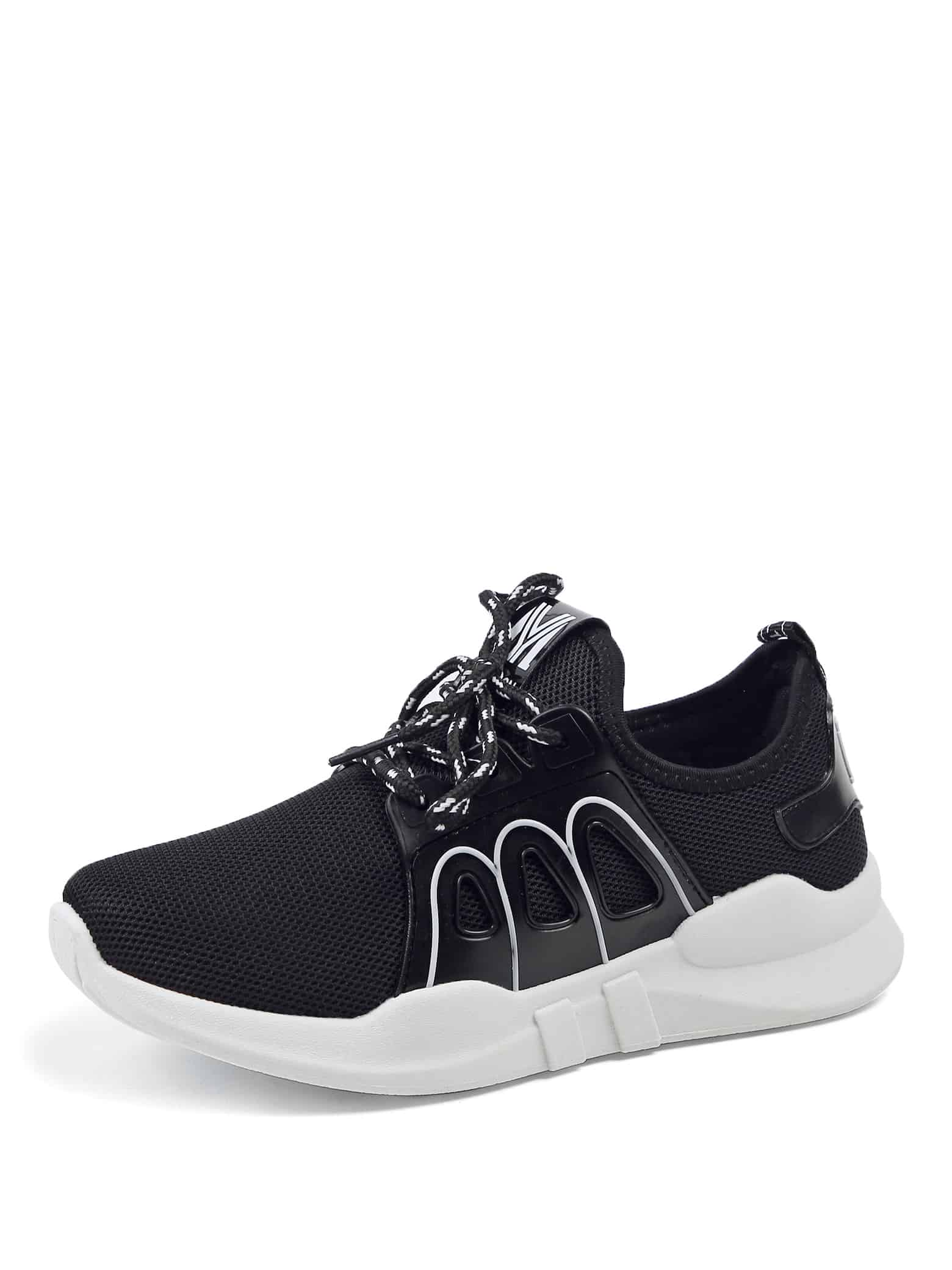 все цены на Knit Design Lace Up Sneakers