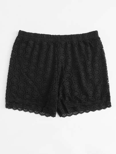 Lace Overlay Shortie