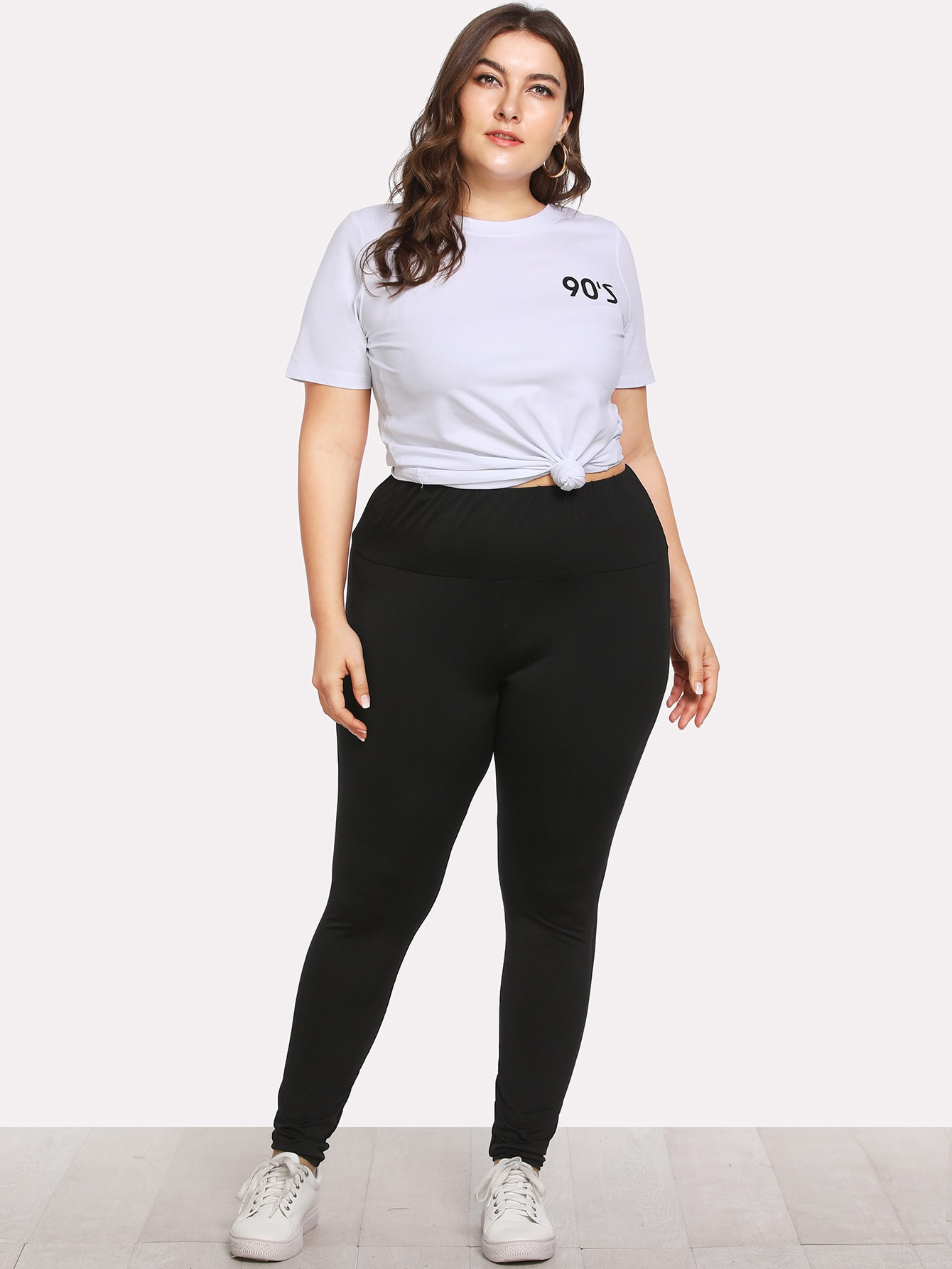 Plus Elastic Waist Skinny Leggings зарядное устройство prorab striker 8
