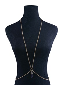 Contrast Crystal Body Chain