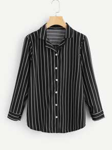 Single Breasted Striped Shirt