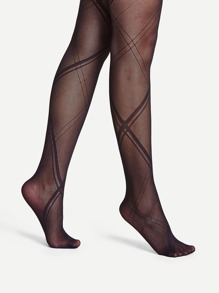 Criss Cross Pattern Tights