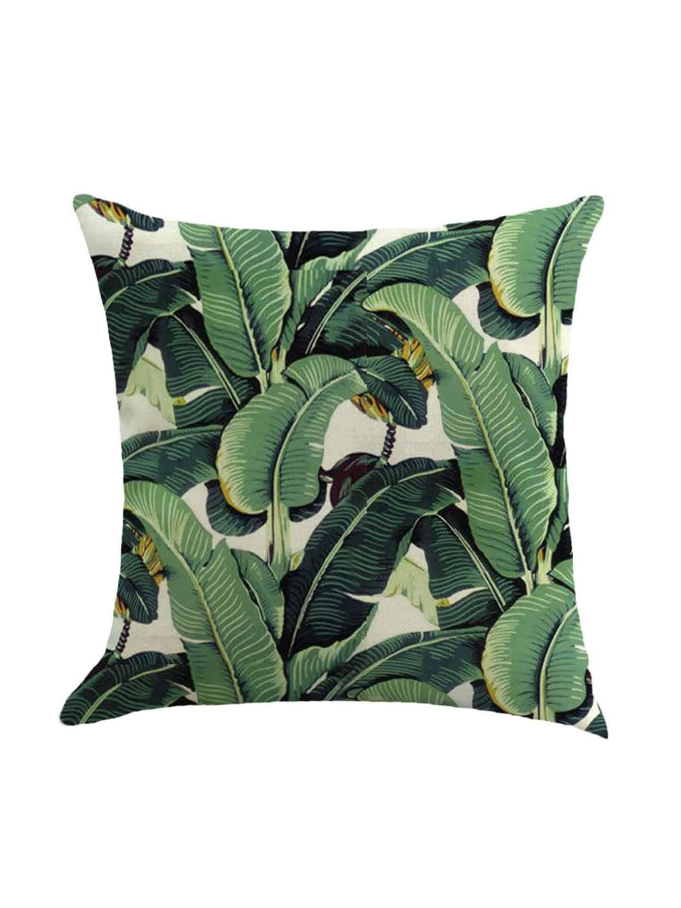 Leaf Print Pillowcase Cover panda print linen pillowcase cover