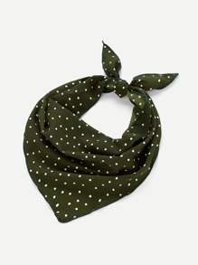 Polka Dot Print Twilly Scarf