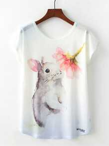 Rabbit Print Tee