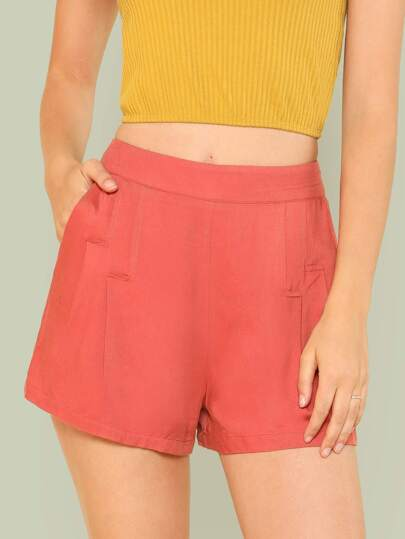 Fold Pleat Wide Leg Shorts