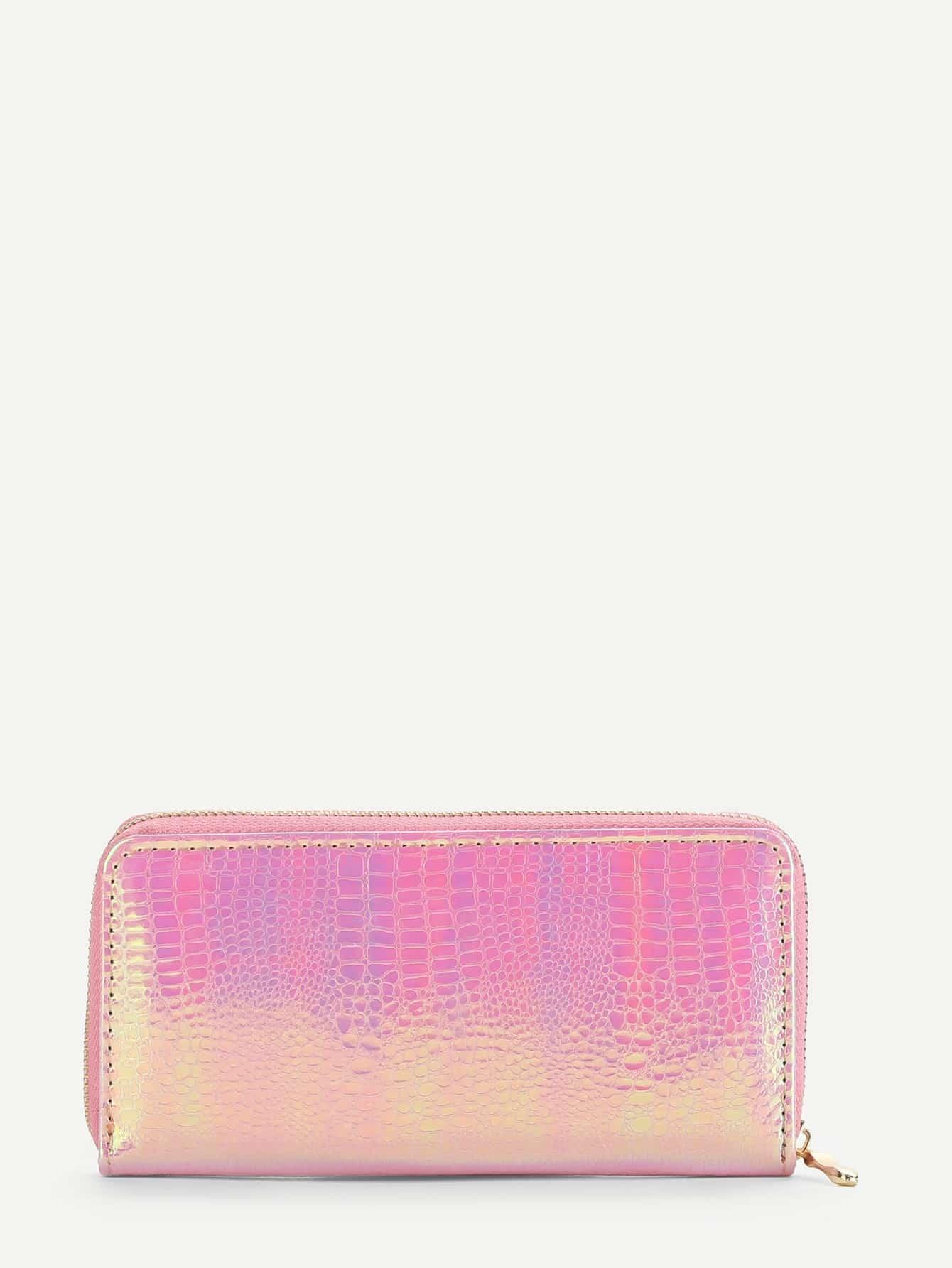Crocodile Pattern PU Wallet iridescent pu wallet