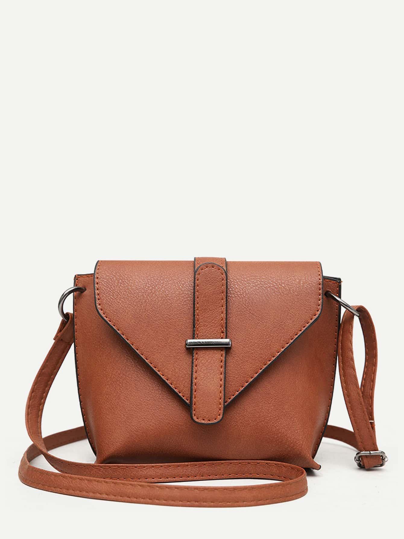 Buckle Detail Flap Shoulder Bag buckle detail flap grab bag