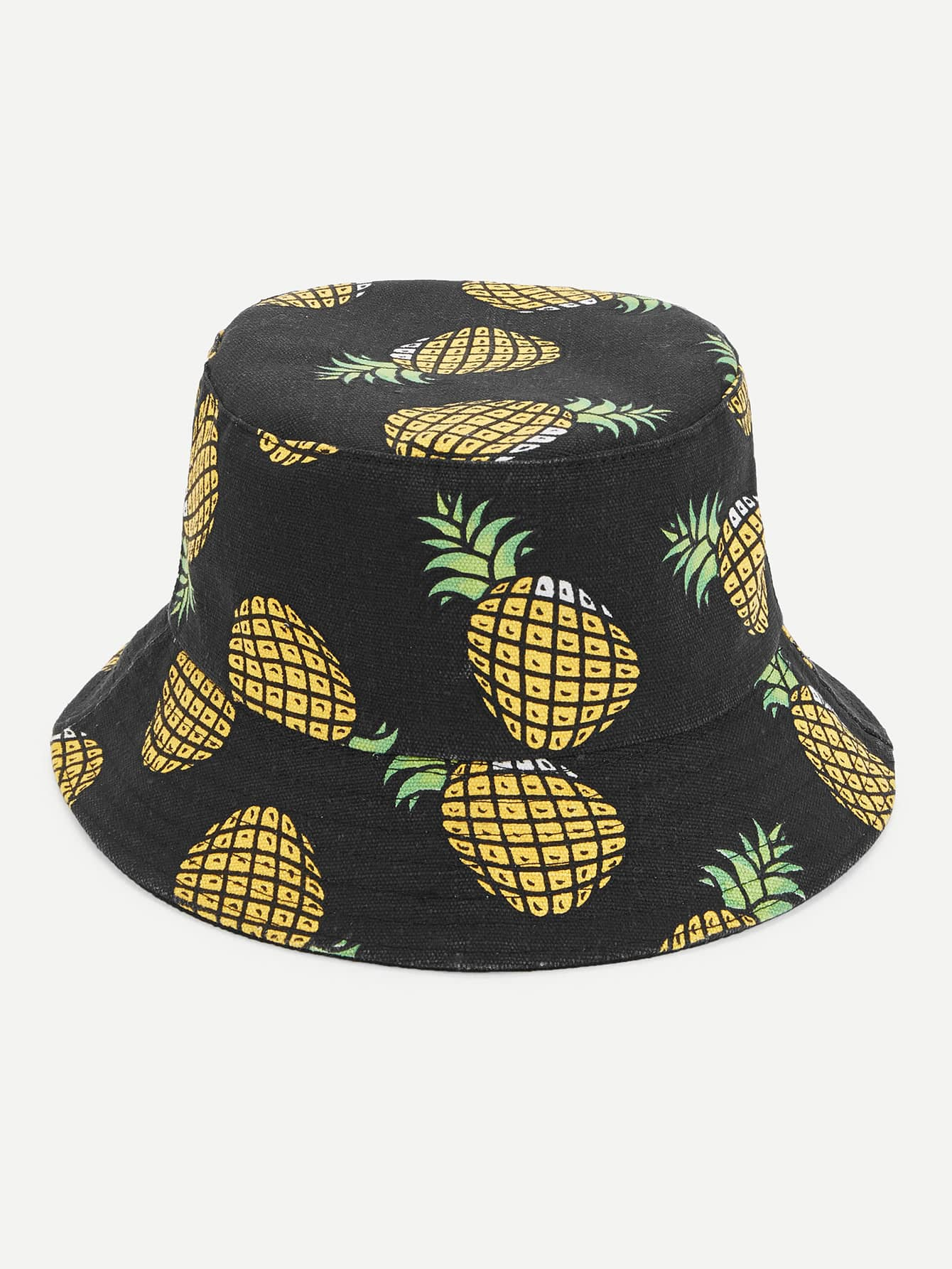 Pineapple Print Bucket Hat