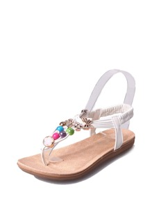 Butterfly Decor Toe Post Sandals