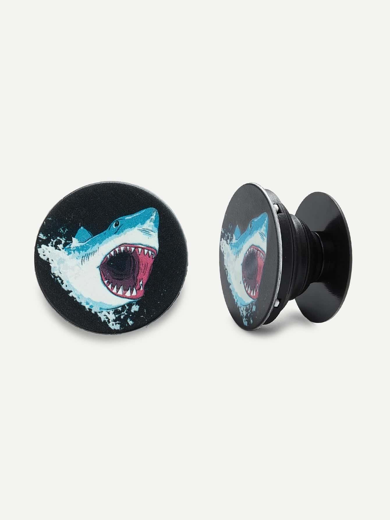 Shark Pattern Gasbag Phone Holder avocado pattern gasbag phone holder