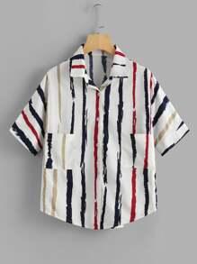 Paint Stripes Print Shirt