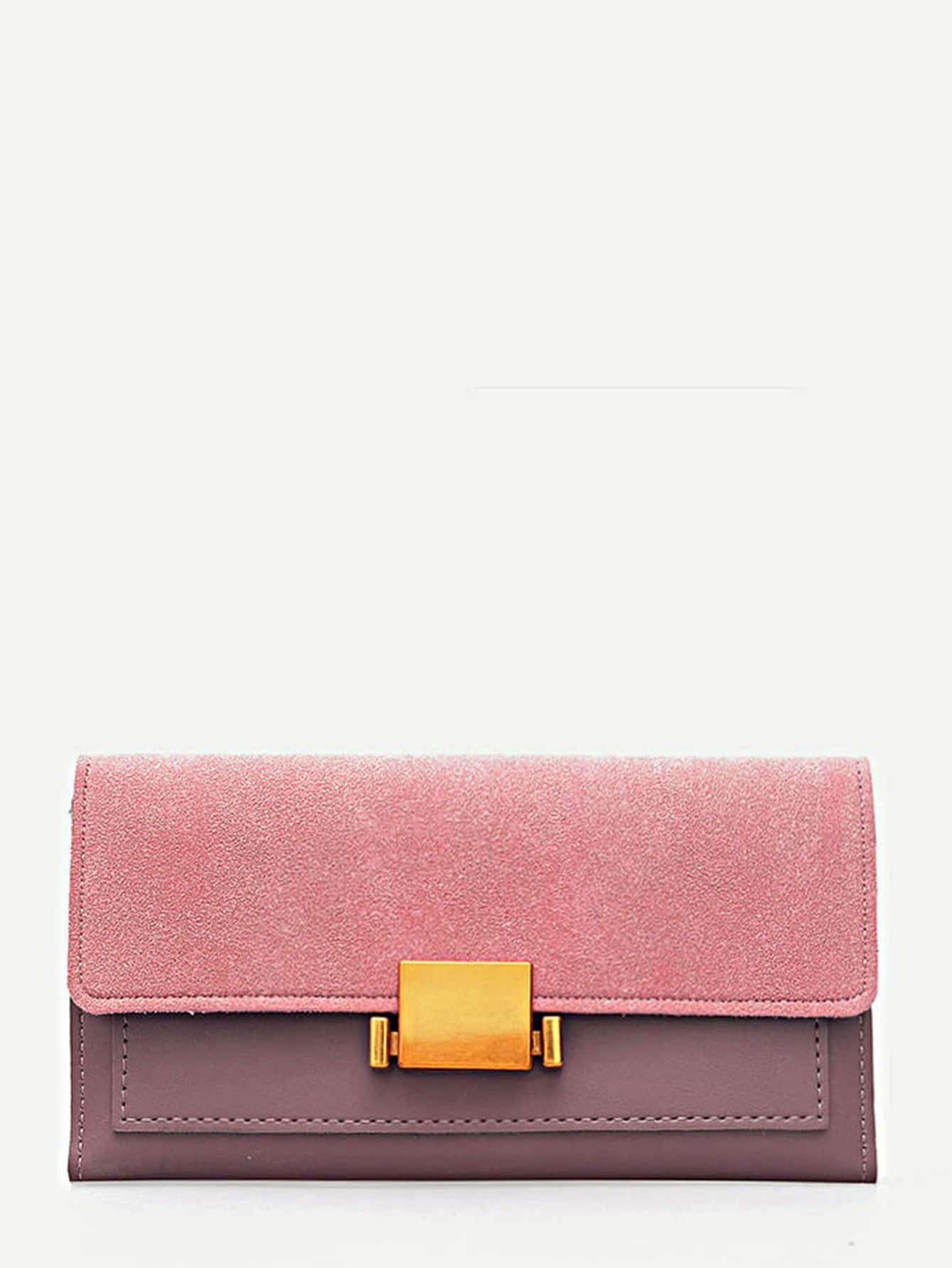 Two Tone PU Panel Wallet iridescent pu wallet