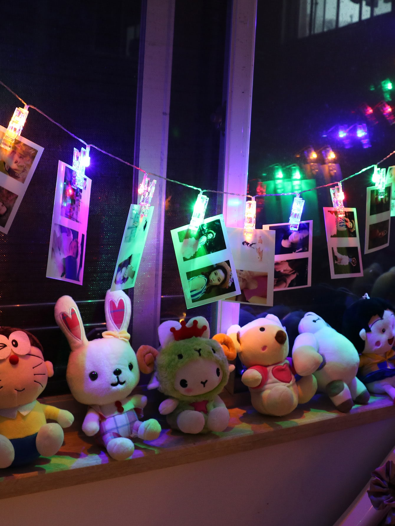 Plug In Peg String Lights With 20pcs Bulb