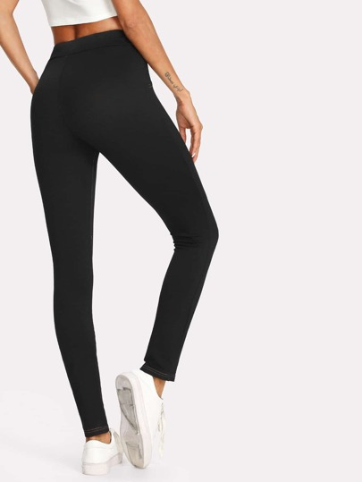 Contrast Stitch Detail Leggings