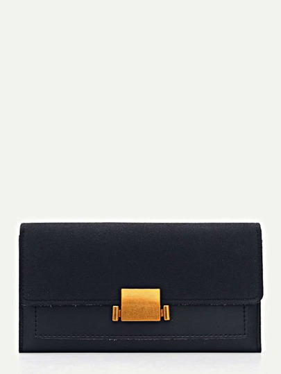 PU Panel Flap Wallet
