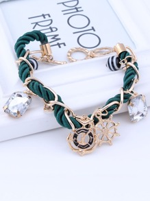 Multi Charm Plaited Bracelet 1pc