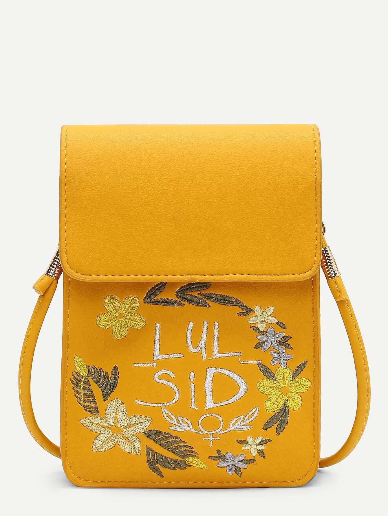 Calico Embroidered Crossbody Pouch цена 2017