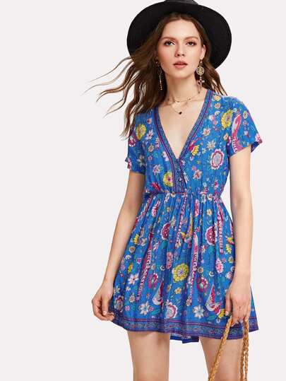 All Over Florals Skater Dress