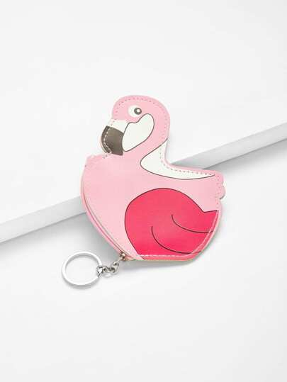 Flamingo Design Purse Bag