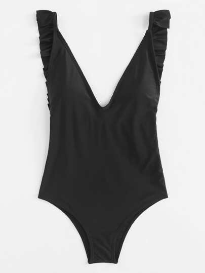 Backless Ruffle Swimsuit