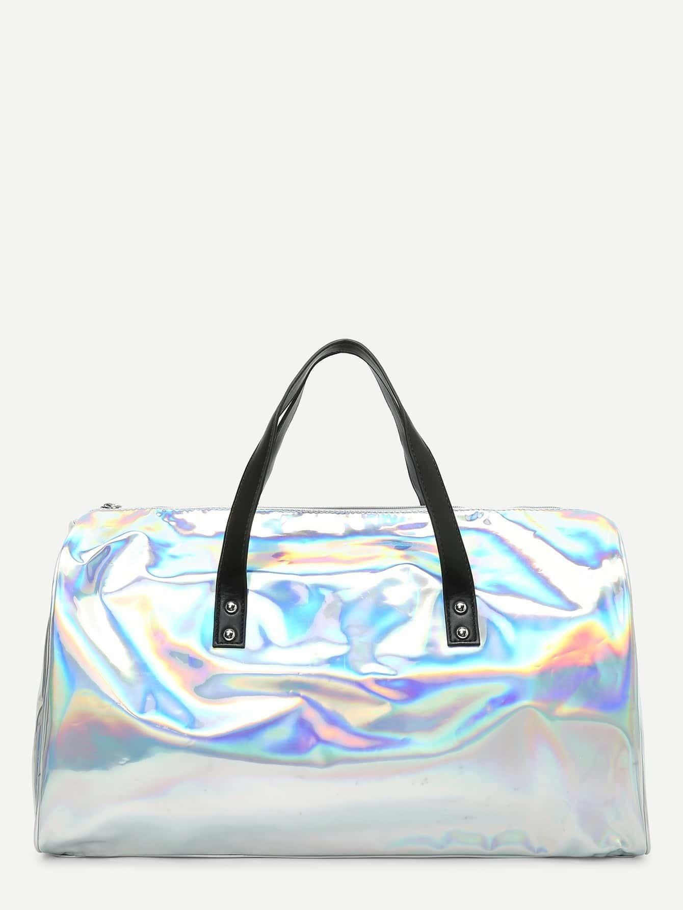 Iridescent PU Tote Bag iridescent tote bag