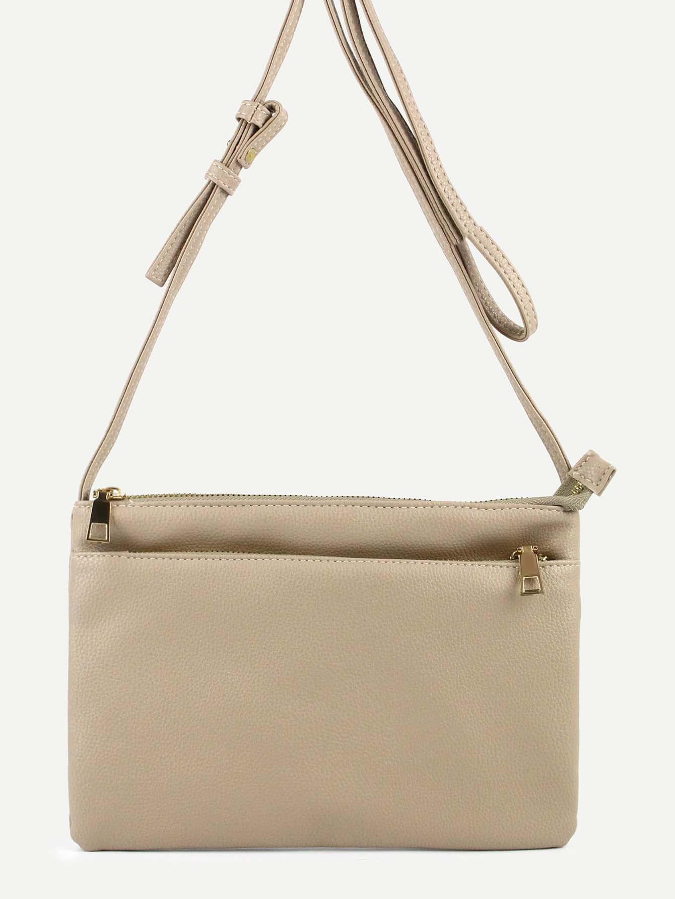 Minimalist Zip Up Shoulder Bag