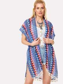 Mixed Print Kimono
