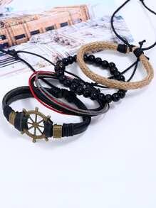 Beaded & Woven Design Bracelet Set