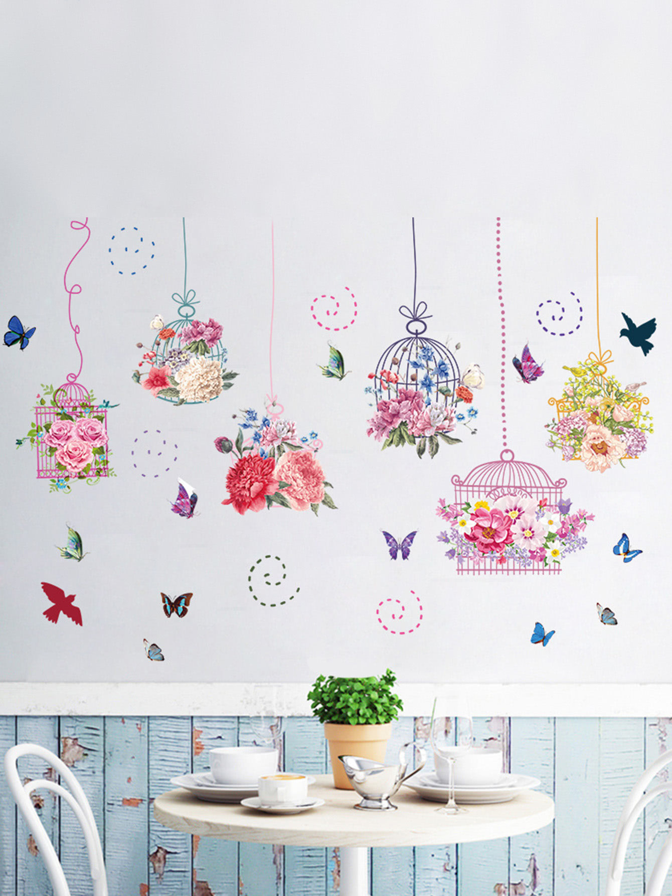 Floral Cage Wall Decal floral girl wall decal