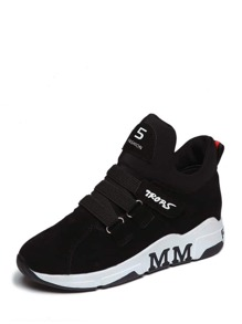 Letter Decorated High Top Sneakers