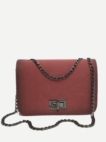 PU Flap Chain Bag