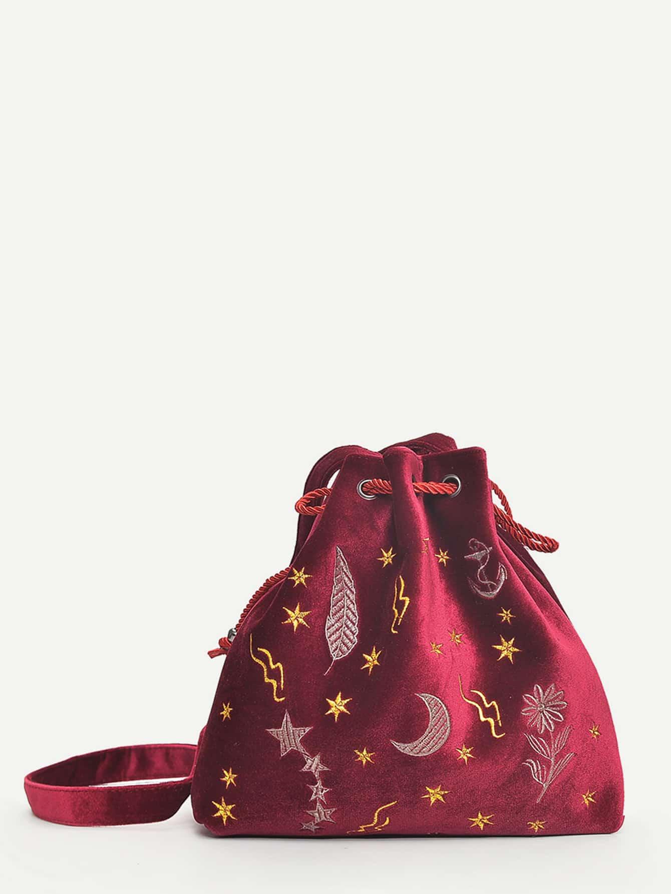 Сумка-мешок с вышивкой