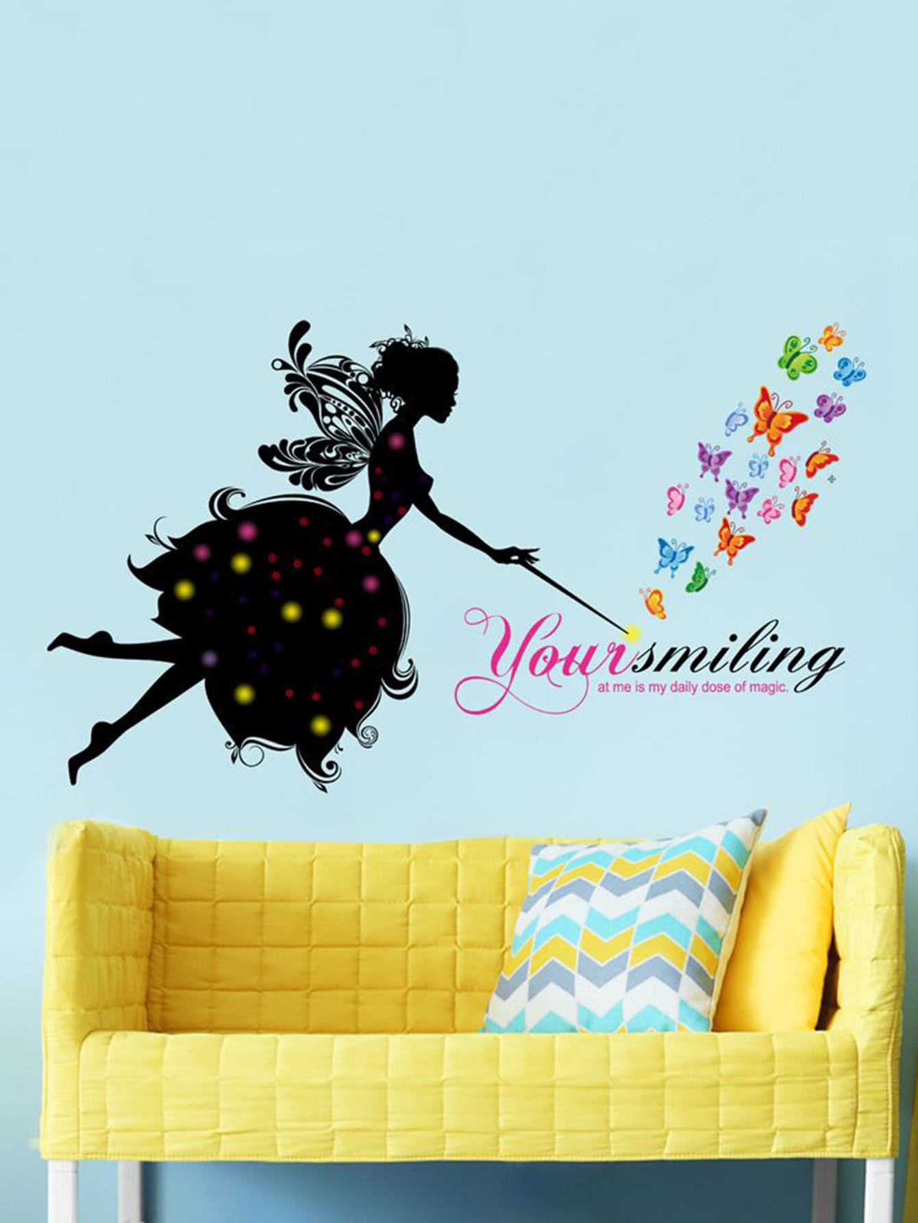 Fairy & Butterfly Wall Decal
