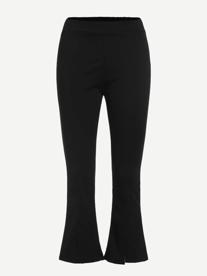 Elastic Waist Flared Leg Pants