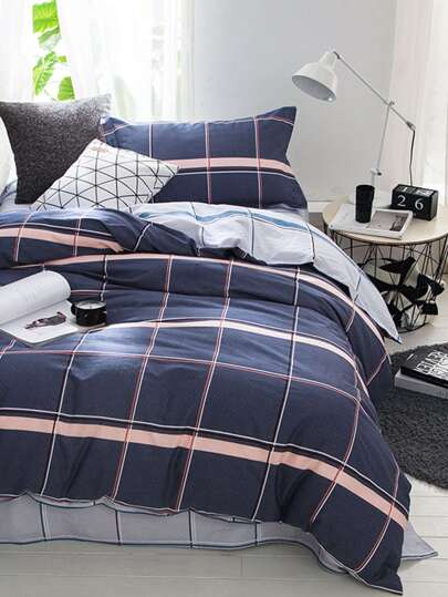 1.5m 3pcs Plaid Bettwäsche