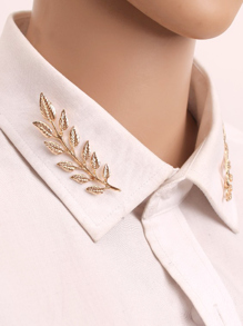 Leaf Design Brooch 1 Pair